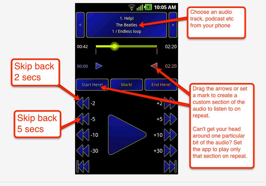 smart repeat audio app foreign language listening