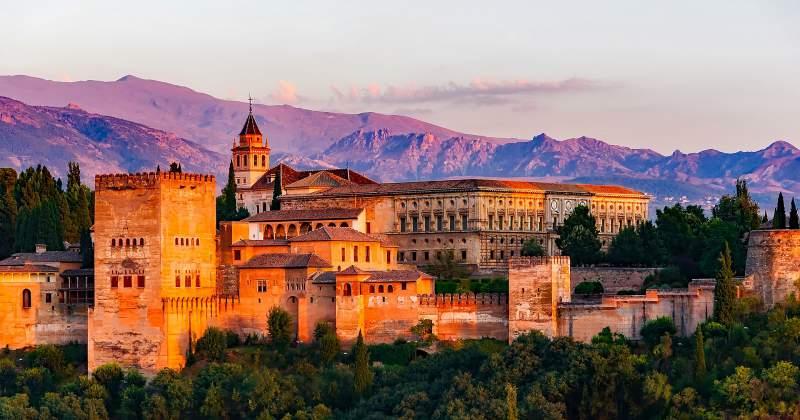la alhambra palace granada spain