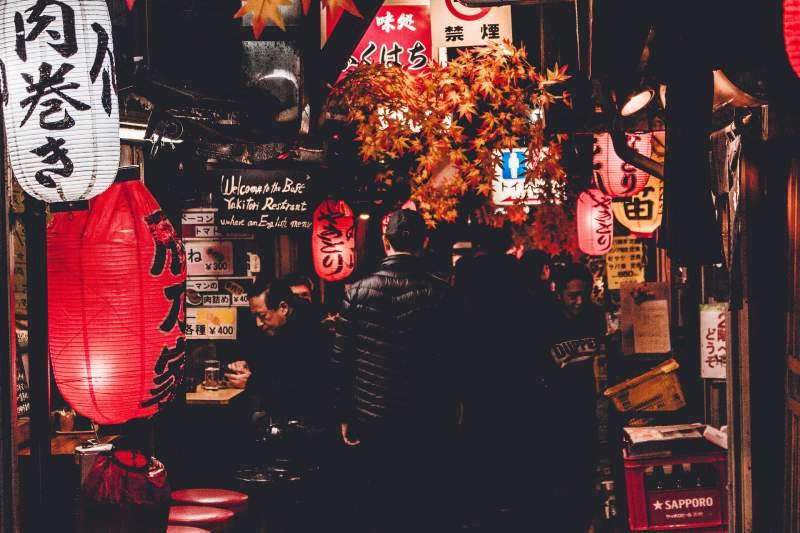 people walking japan
