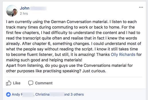 something changes Conversations testimonial