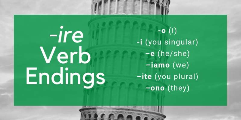 Italian verb conjugation ire verbs