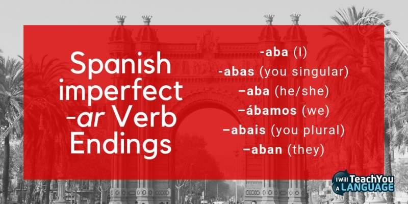 Spanish imperfect tense ar verb conjugation