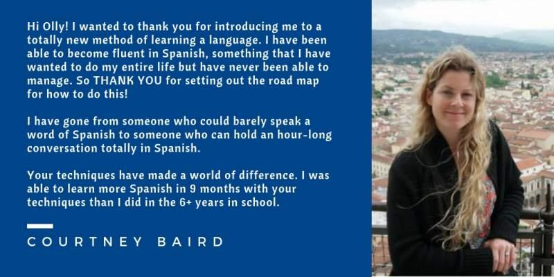 Courtney Baird testimonial