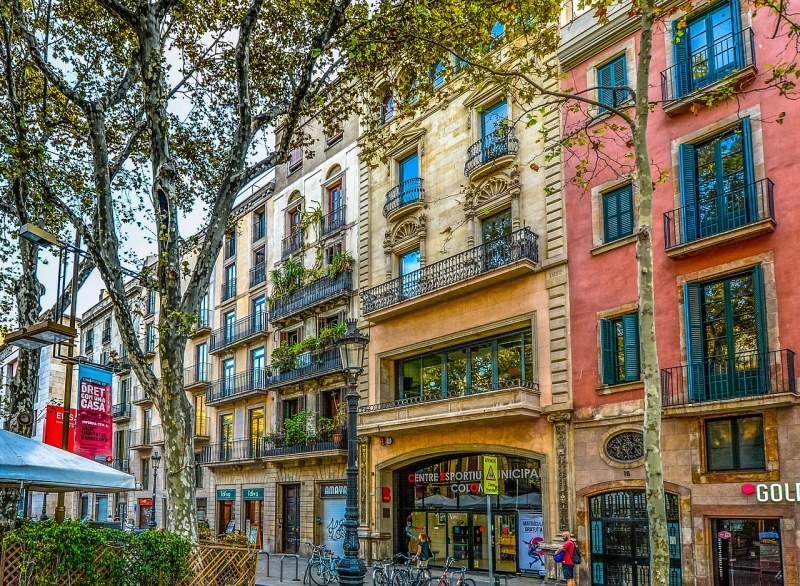 façades of Barcelona