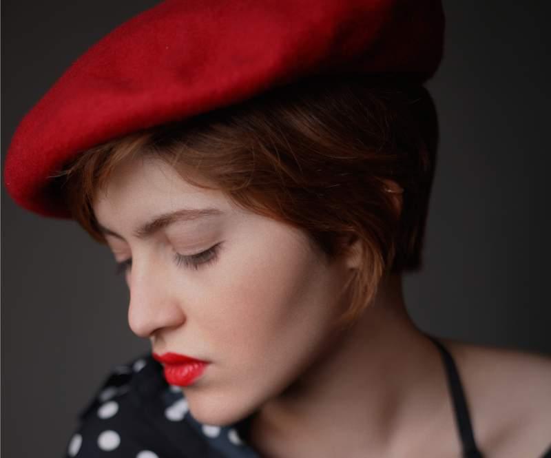 woman wearing beret 1