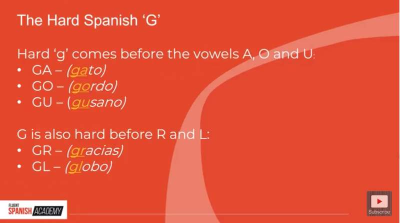 the hard Spanish g