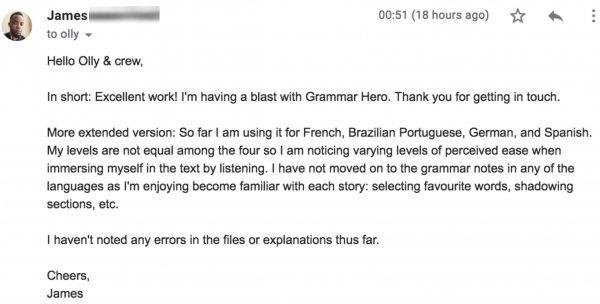Grammar Hero love