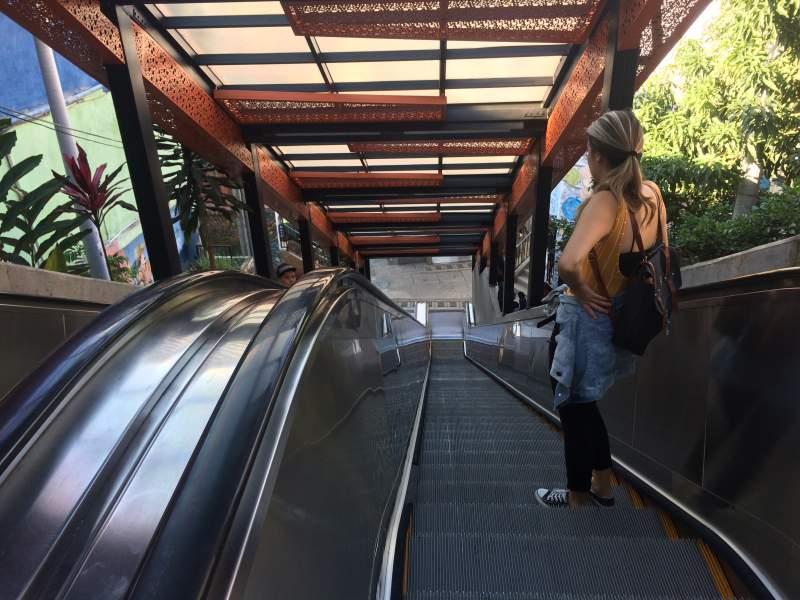 escalator medellin Colombia