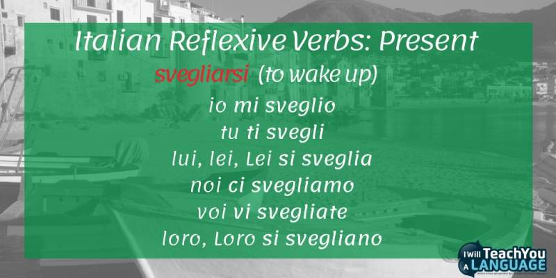 reflexive verbs Italian conjugation present