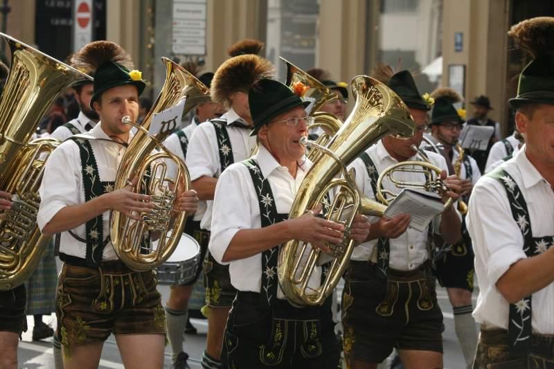 brass band at Oktoberfest