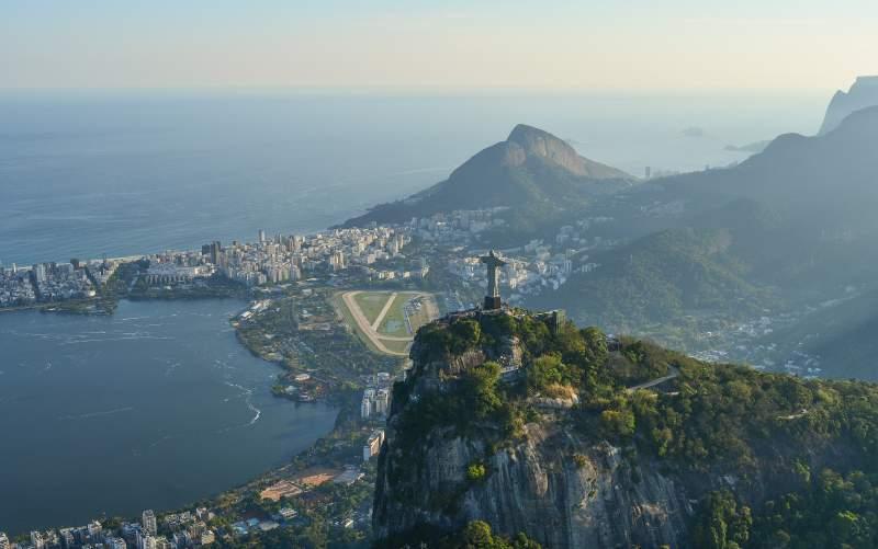 view of Christ the Redeemer, Rio de Janeiro, Brazil