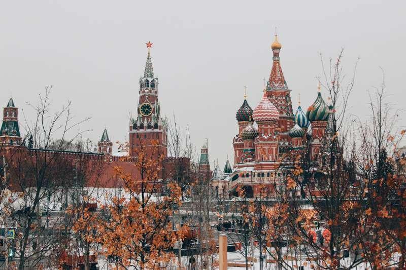 The Kremlin in the snow